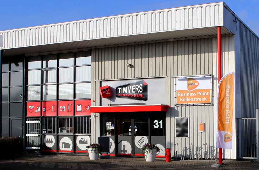 Timmers Verpakkingen is nu PostNL Business Point Bollenstreek.