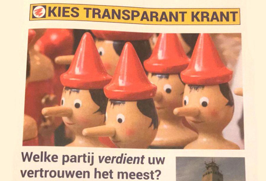College Noordwijk eist opheldering Kies Transparant Krant. (verspreid dag voor de verkiezingen)