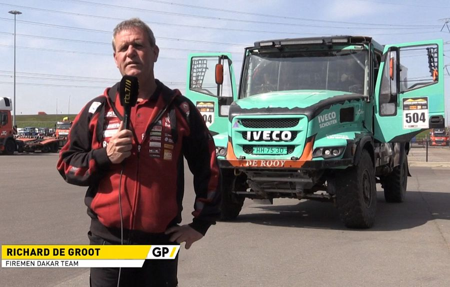 Richard de Groot finisht met 'Firemen Dakarteam' in de Dakar Rally. (foto's+filmpjes)